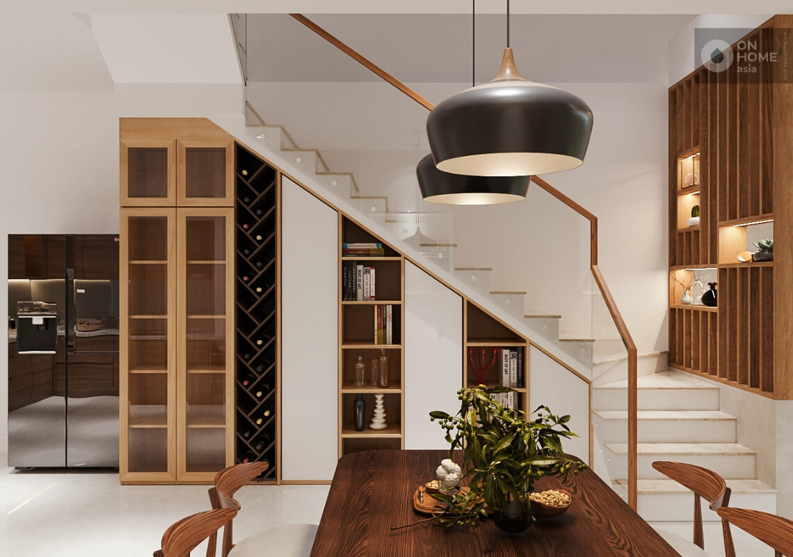 Thiết kế nội thất nhà phố 1 trệt lầu