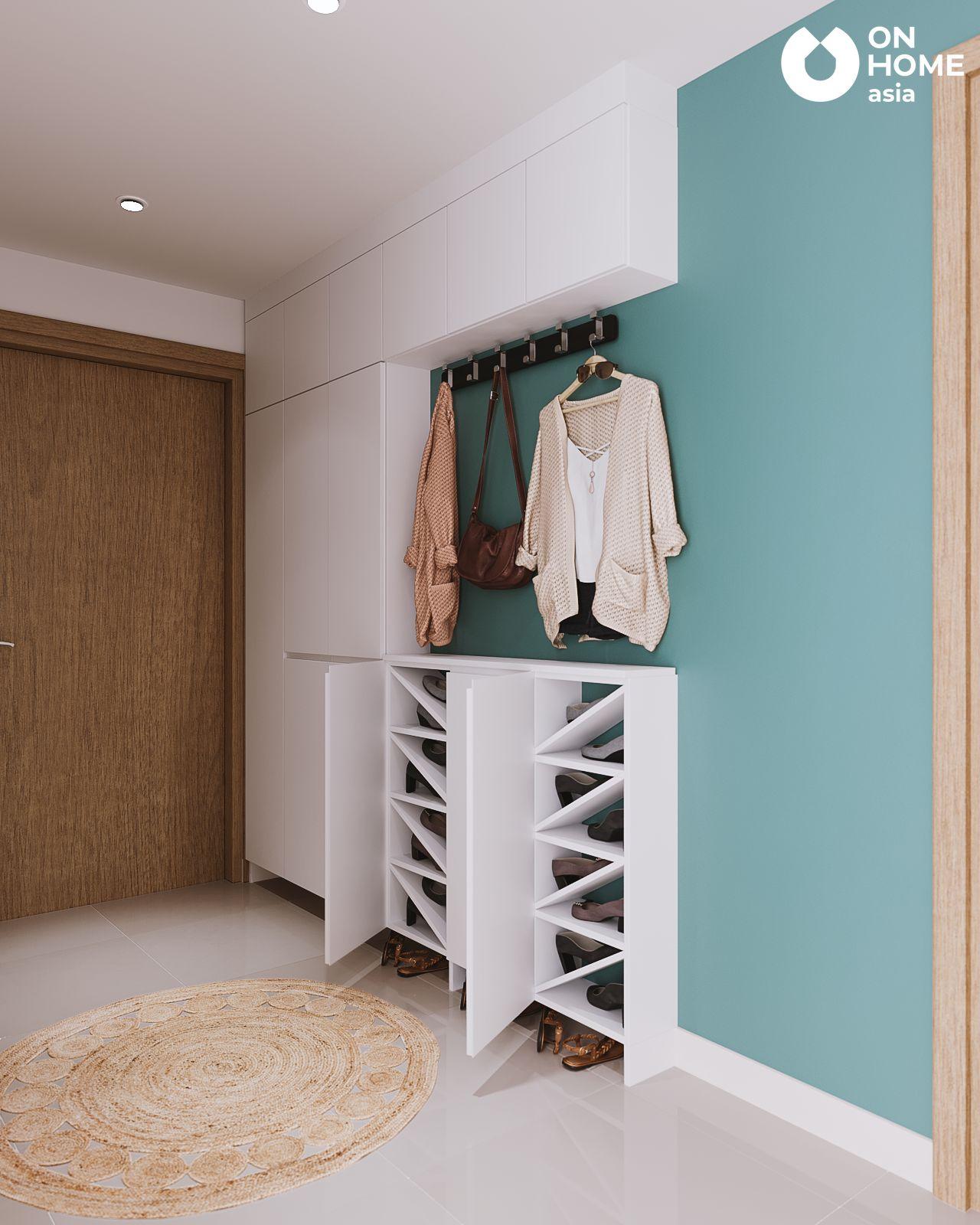 nội thất tủ giày căn hộ 3 phòng ngủ