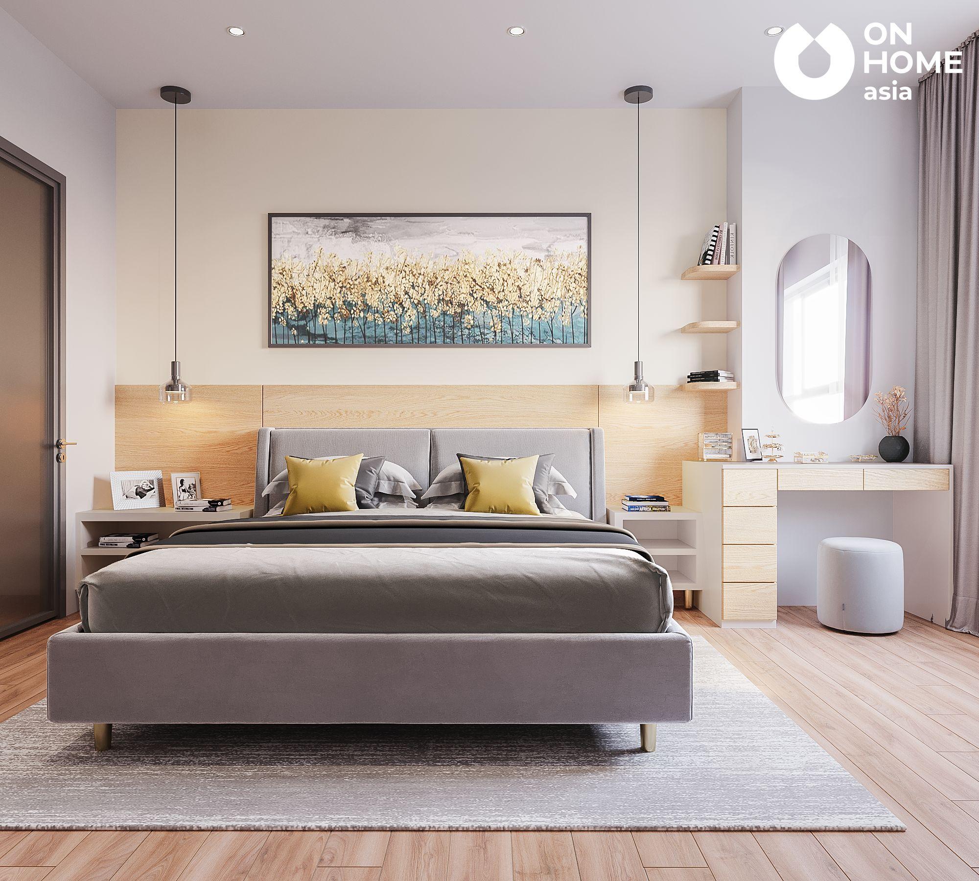 Thiết kế nội thất phòng ngủ lớn căn hộ 3 phòng ngủ