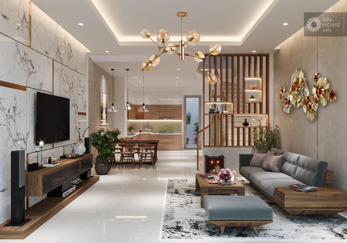 Thiết kế nội thất nhà phố 1 trệt 1 lầu