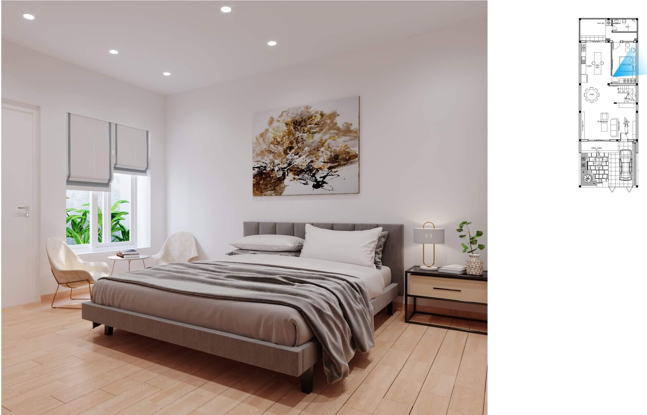 Phòng ngủ sang trọng hiện đại