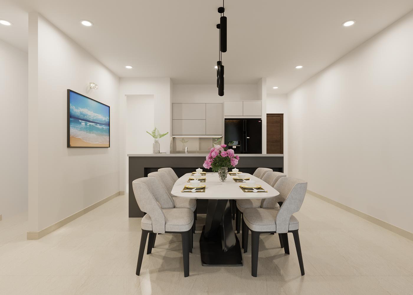 nội thất nhà bếp căn hộ the habitat