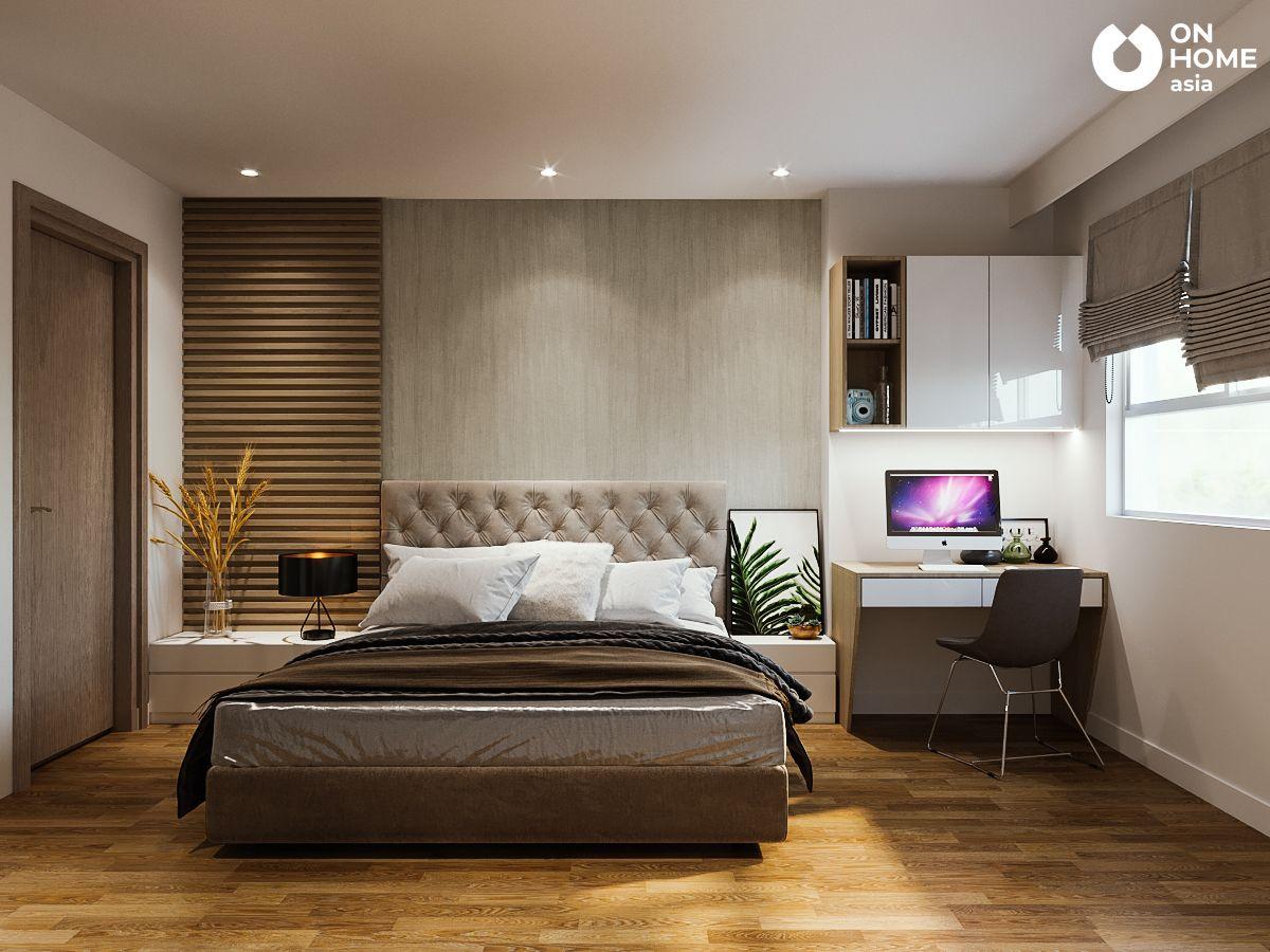 Không gian phòng ngủ căn hộ chung cư the view 2 phòng ngủ
