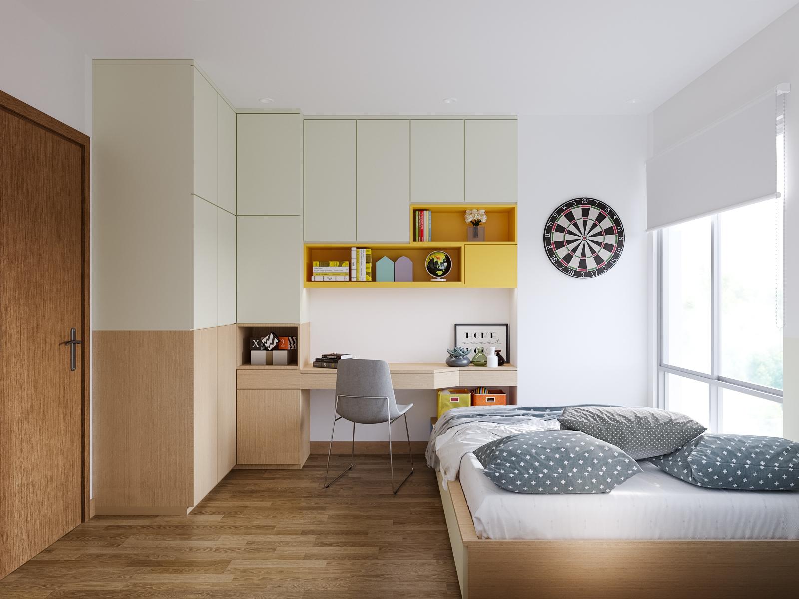 Nội thất phòng ngủ nhỏ căn hộ The View