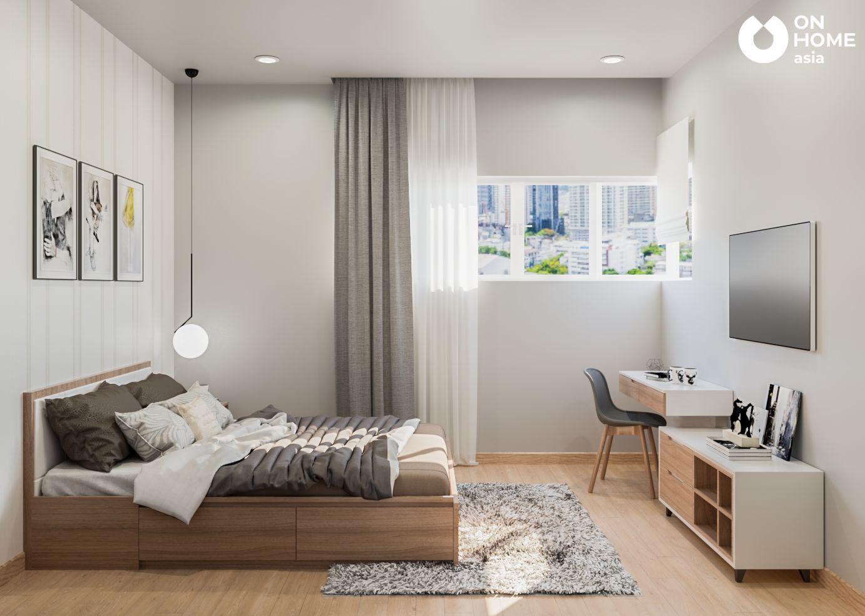 Phòng ngủ master chung cư 2 phòng ngủ