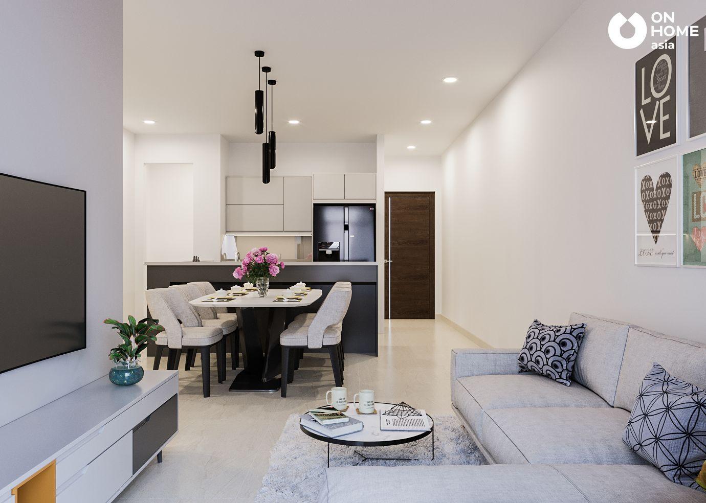 phòng khách căn hộ Habitat