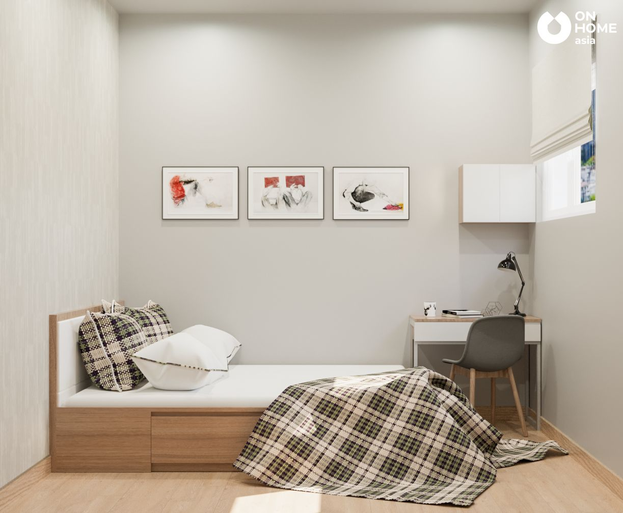 Không gian phòng ngủ nhỏ chung cư 2 phòng ngủ