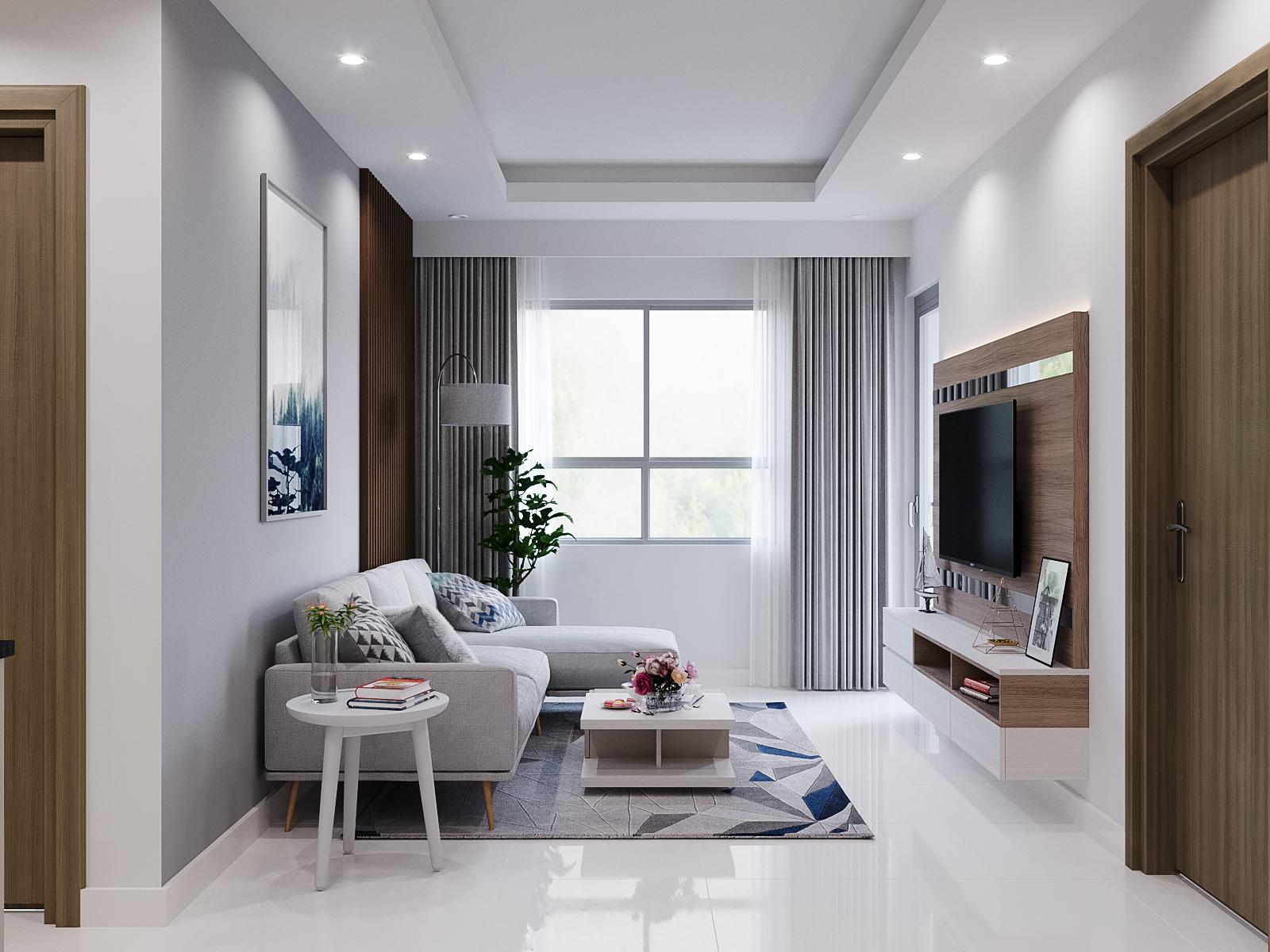 Không gian phòng khách căn hộ The View 2 phòng ngủ