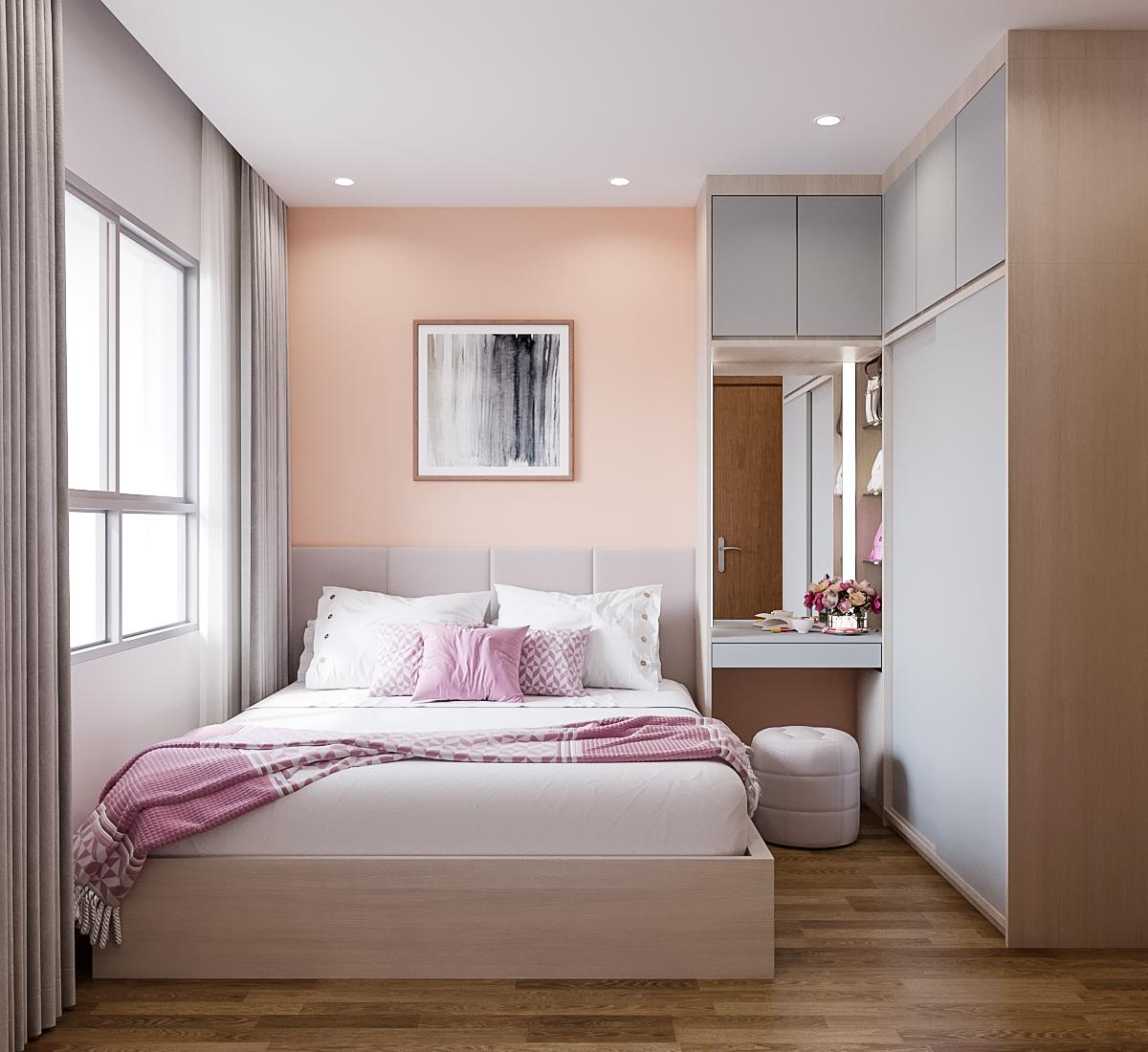 Nội thất phòng ngủ master căn hộ The View