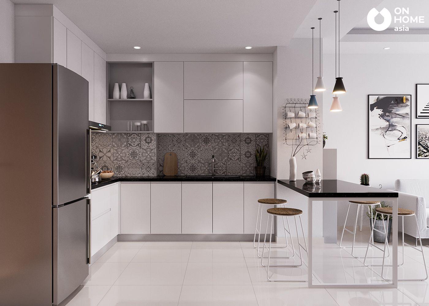 Phòng bếp căn hộ chung cư The View Type 4A4B