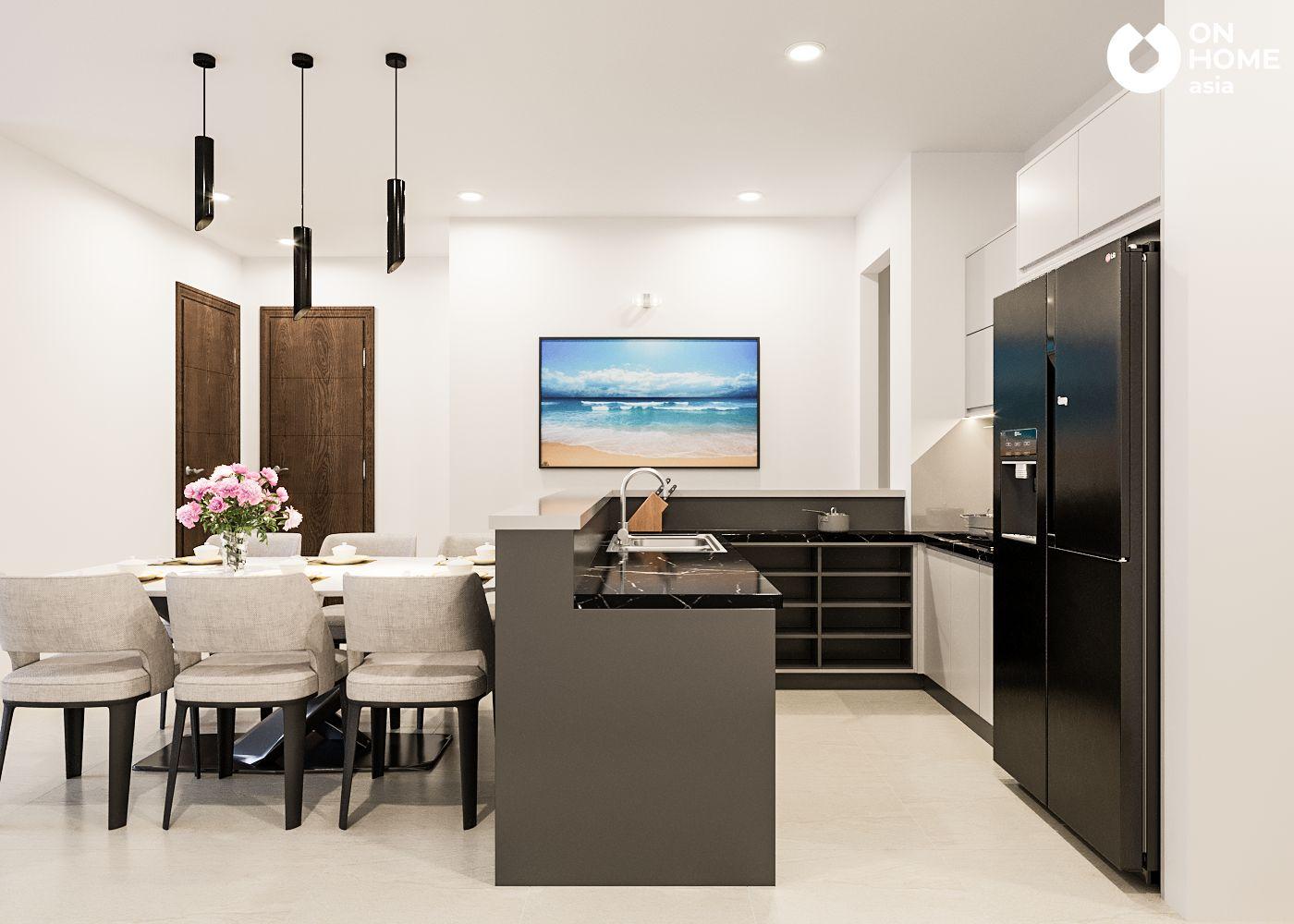 phòng bếp căn hộ Habitat