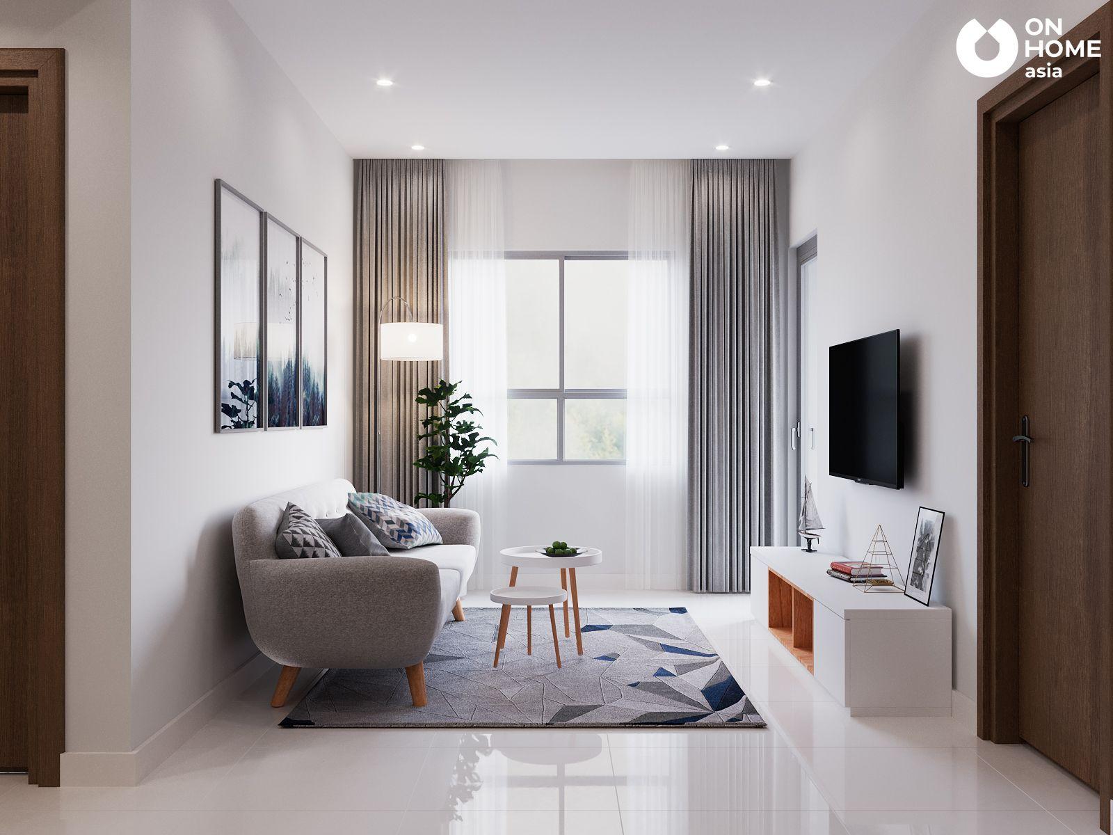 Phòng khách căn hộ chung cư the view