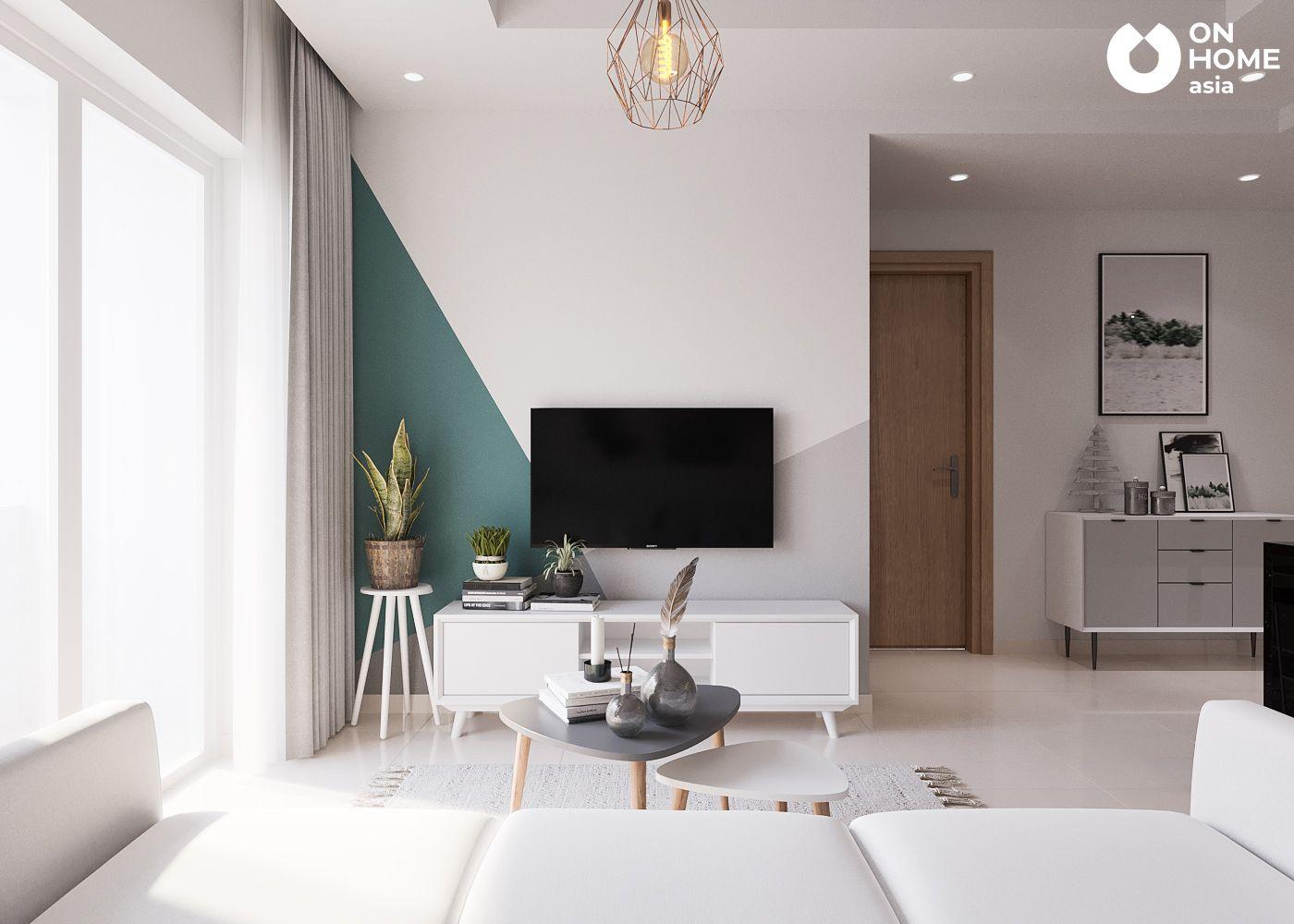 Phòng khách căn hộ chung cư The View Type 4A4B