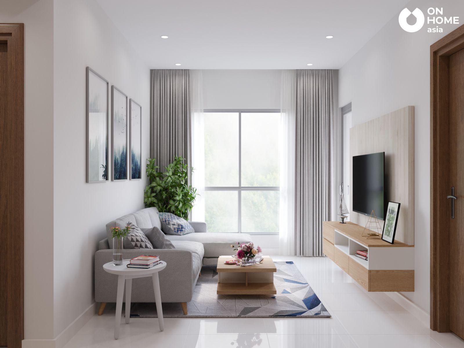 Phòng khách căn hộ chung cư the view type4A4B