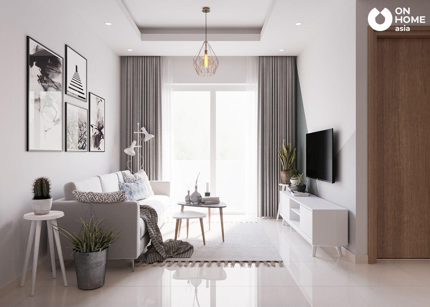 Không gian phòng khách căn hộ chung cư The View