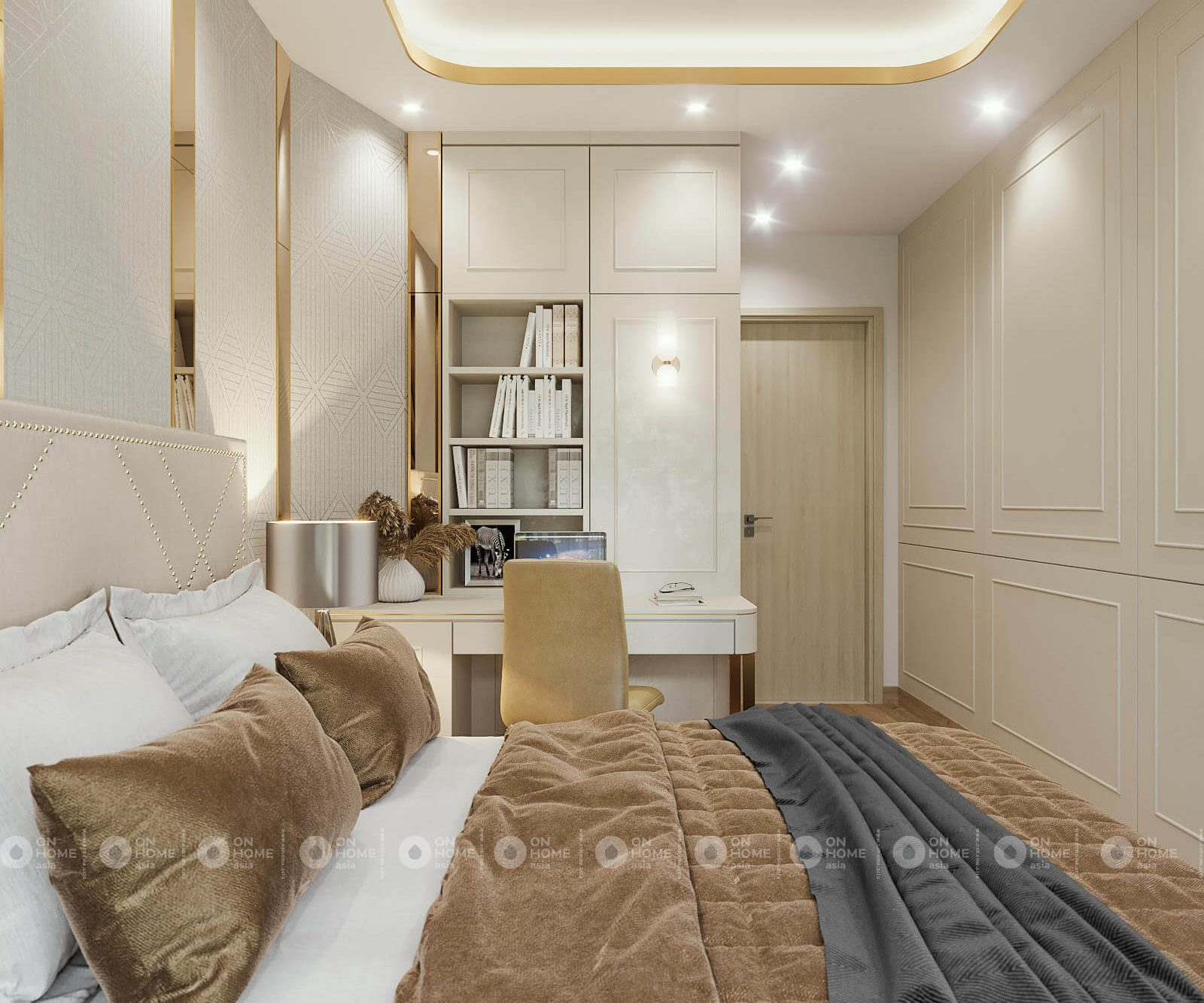 Nội thất phòng ngủ nhỏ tuyệt đẹp căn hộ 2 phòng ngủ