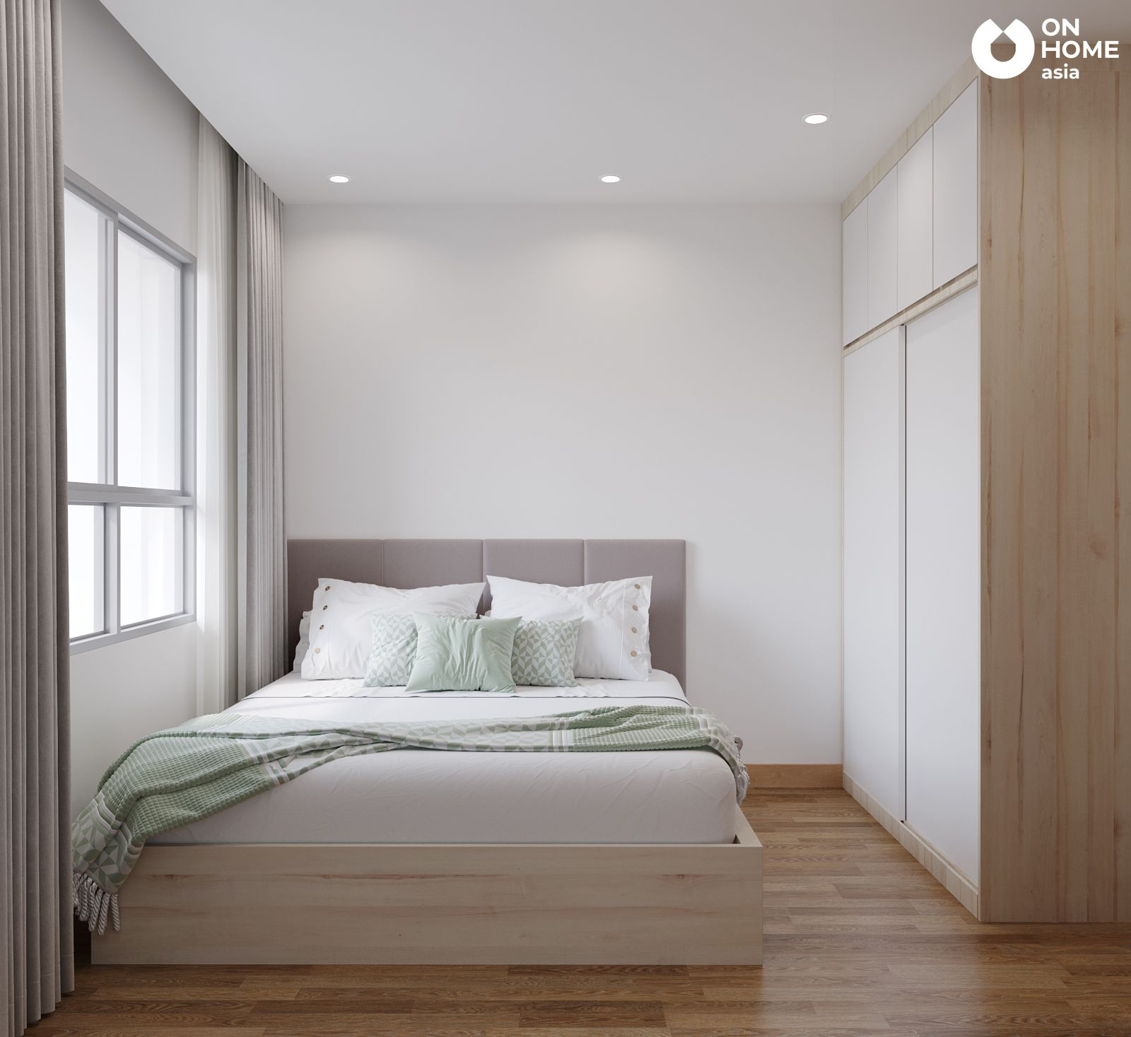 Phòng ngủ Master căn hộ chung cư the view type4A4B