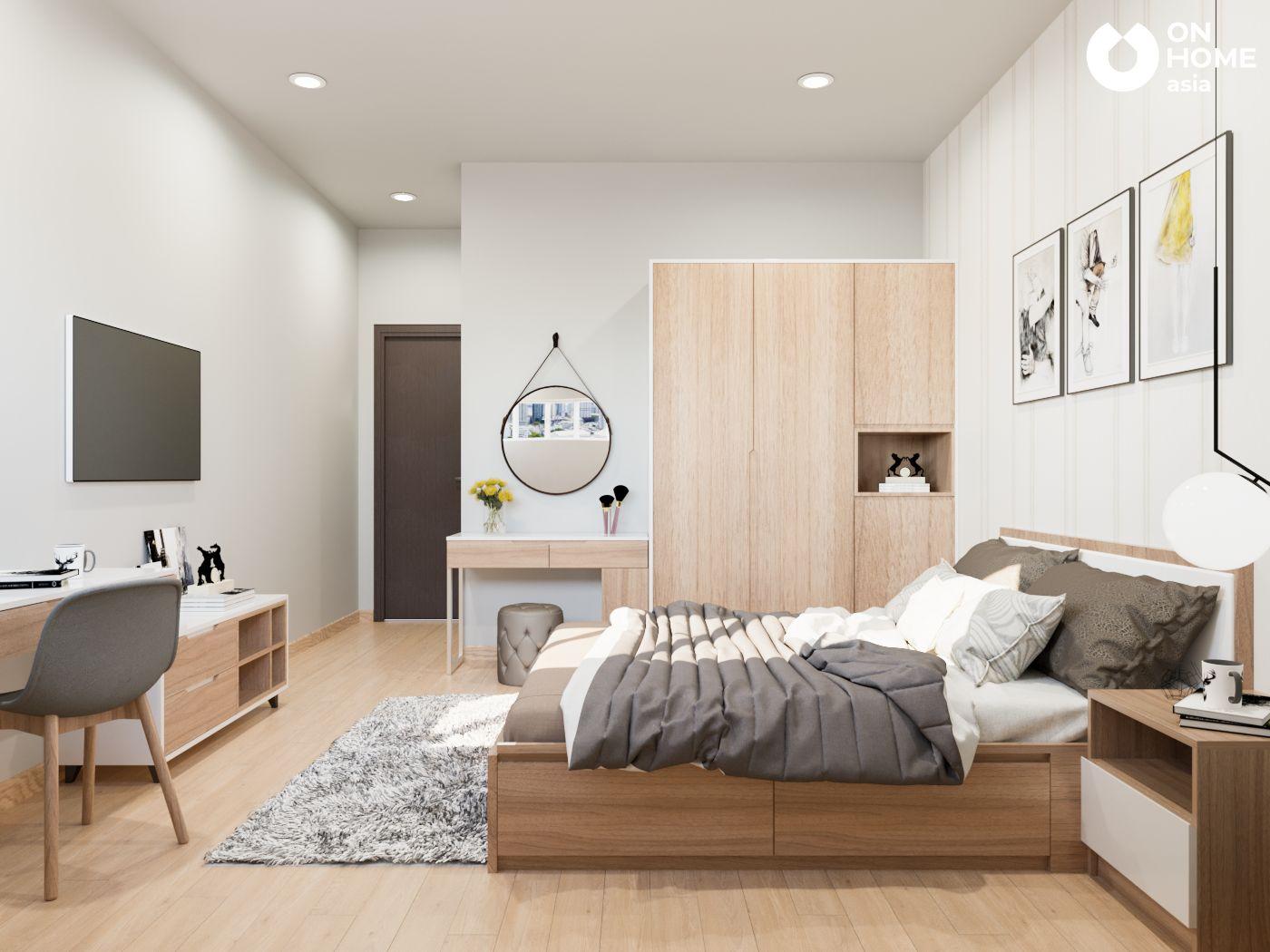 Nội thất phòng ngủ chung cư 2 phòng ngủ