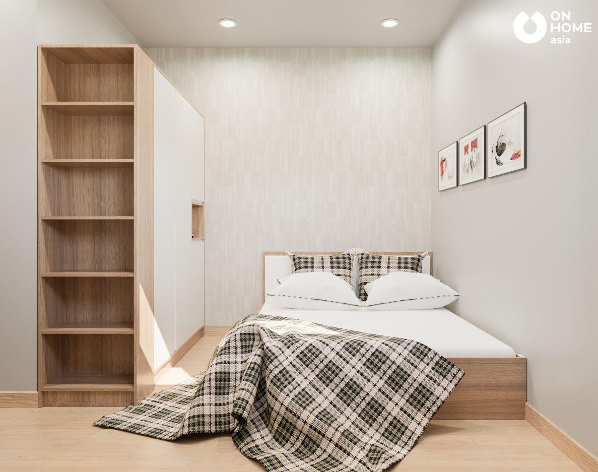 Phòng ngủ nhỏ cho nội thất chung cư 2 phòng ngủ