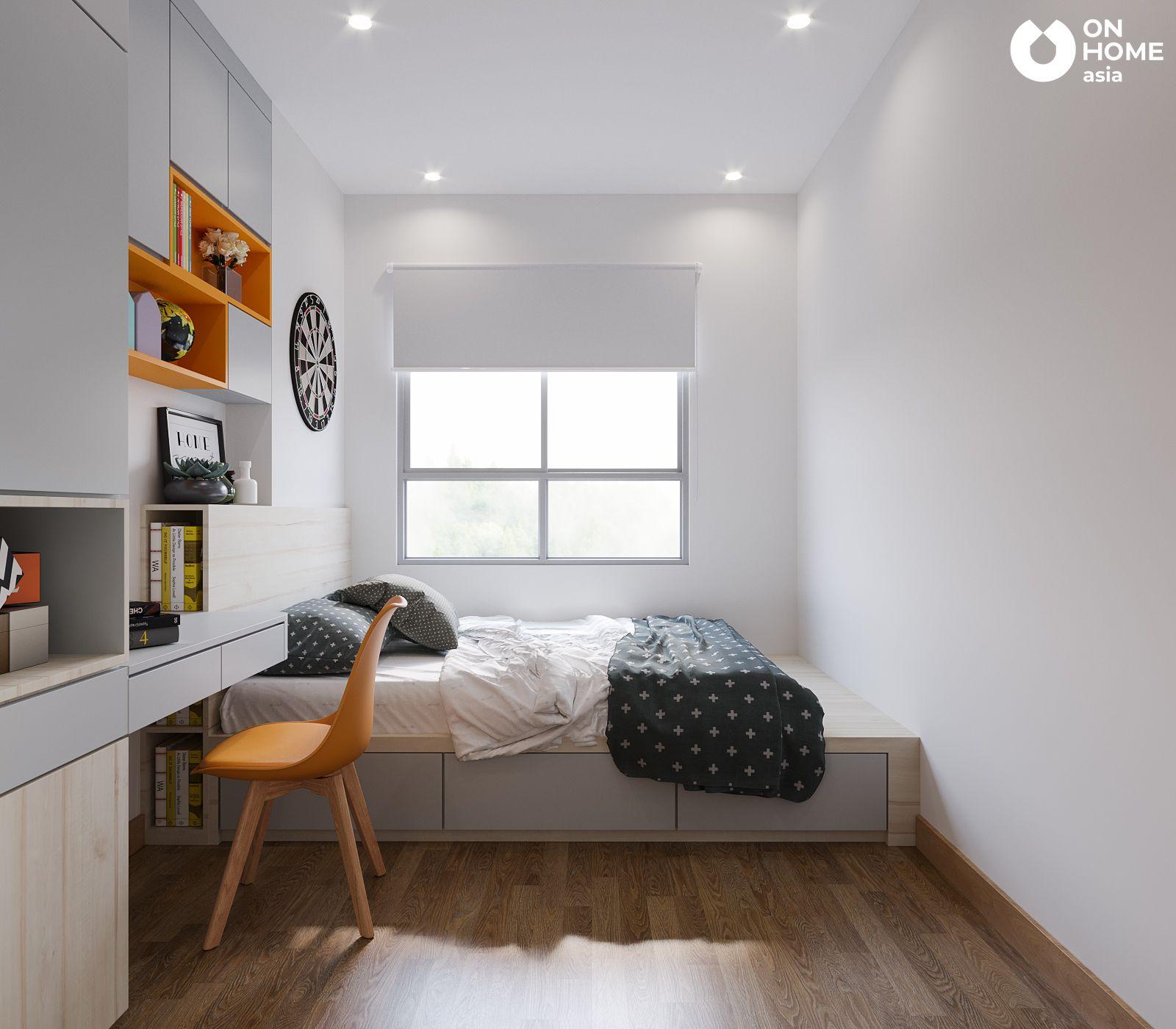 Phòng ngủ nhỏ căn hộ chung cư the view type4A4B