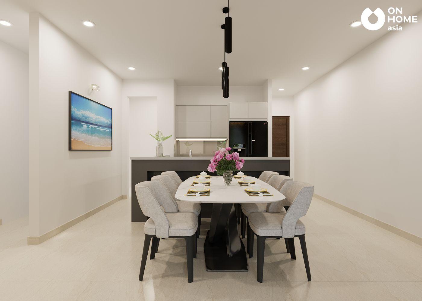 bàn ăn căn hộ Habitat