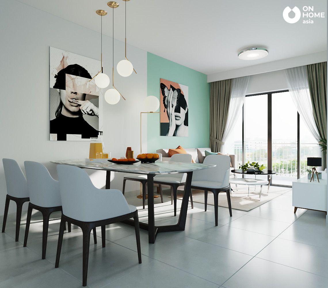 nội thất bàn ăn căn hộ the habitat 3 phòng ngủ