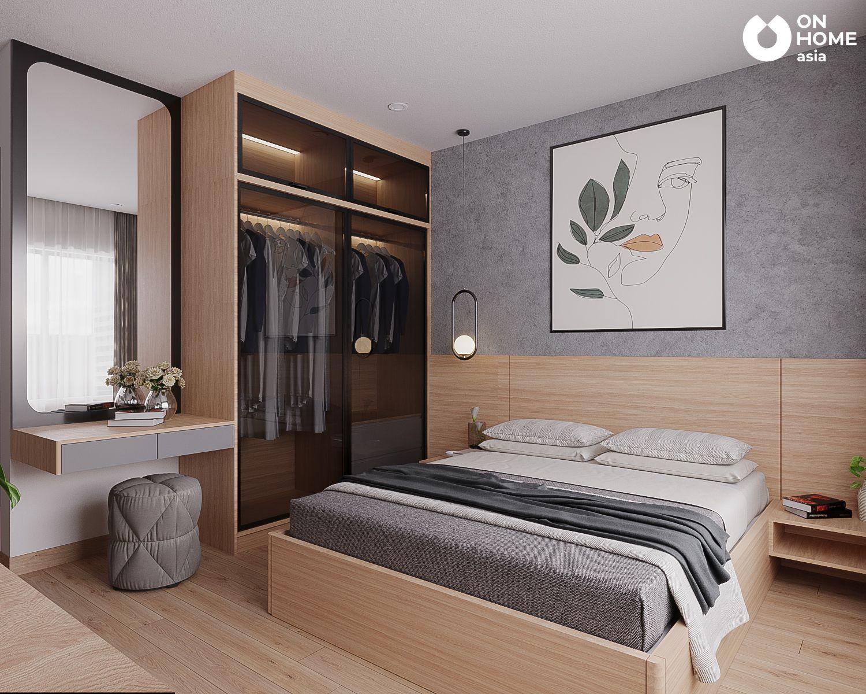 Phòng ngủ master trong thiết kế nội thất 3 phòng ngủ