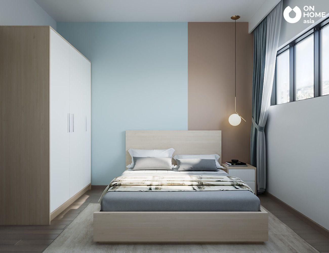 nội thất phòng ngủ nhỏ căn hộ the habitat 3 phòng ngủ