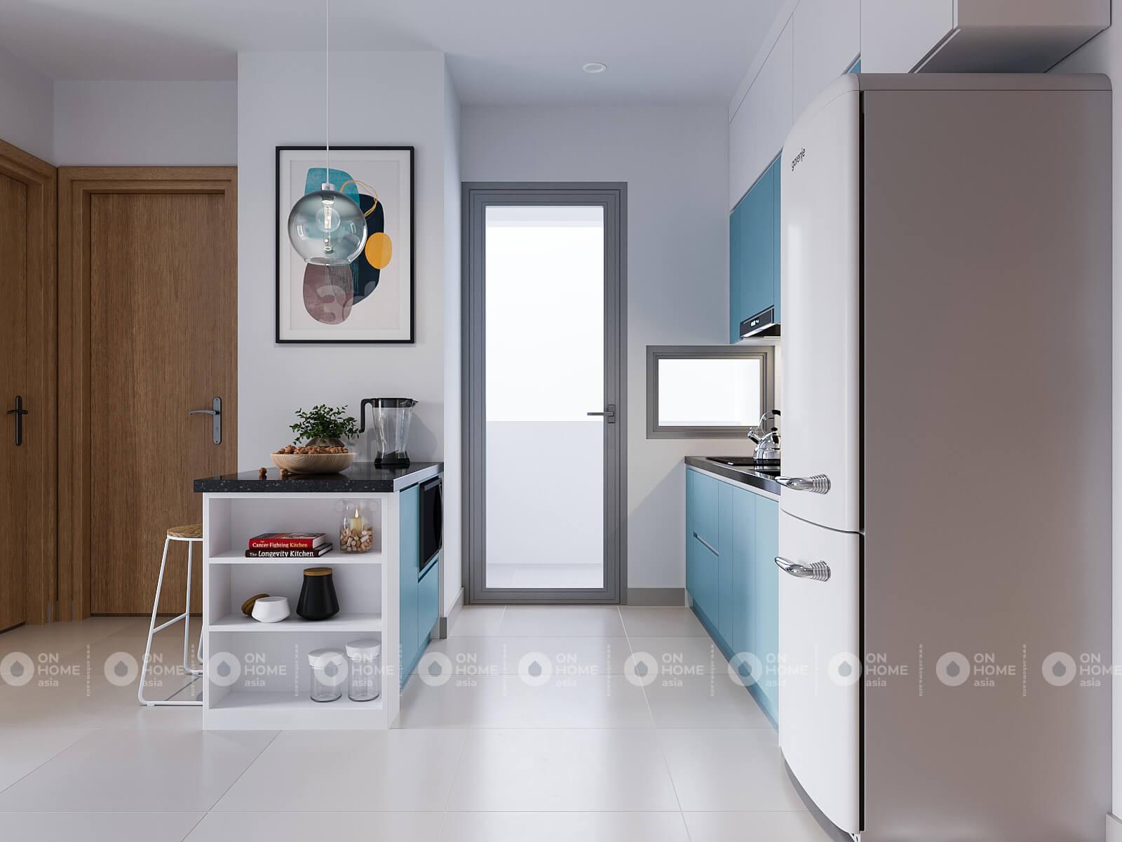 nội thất nhà bếp căn hộ compass one 1 phòng ngủ