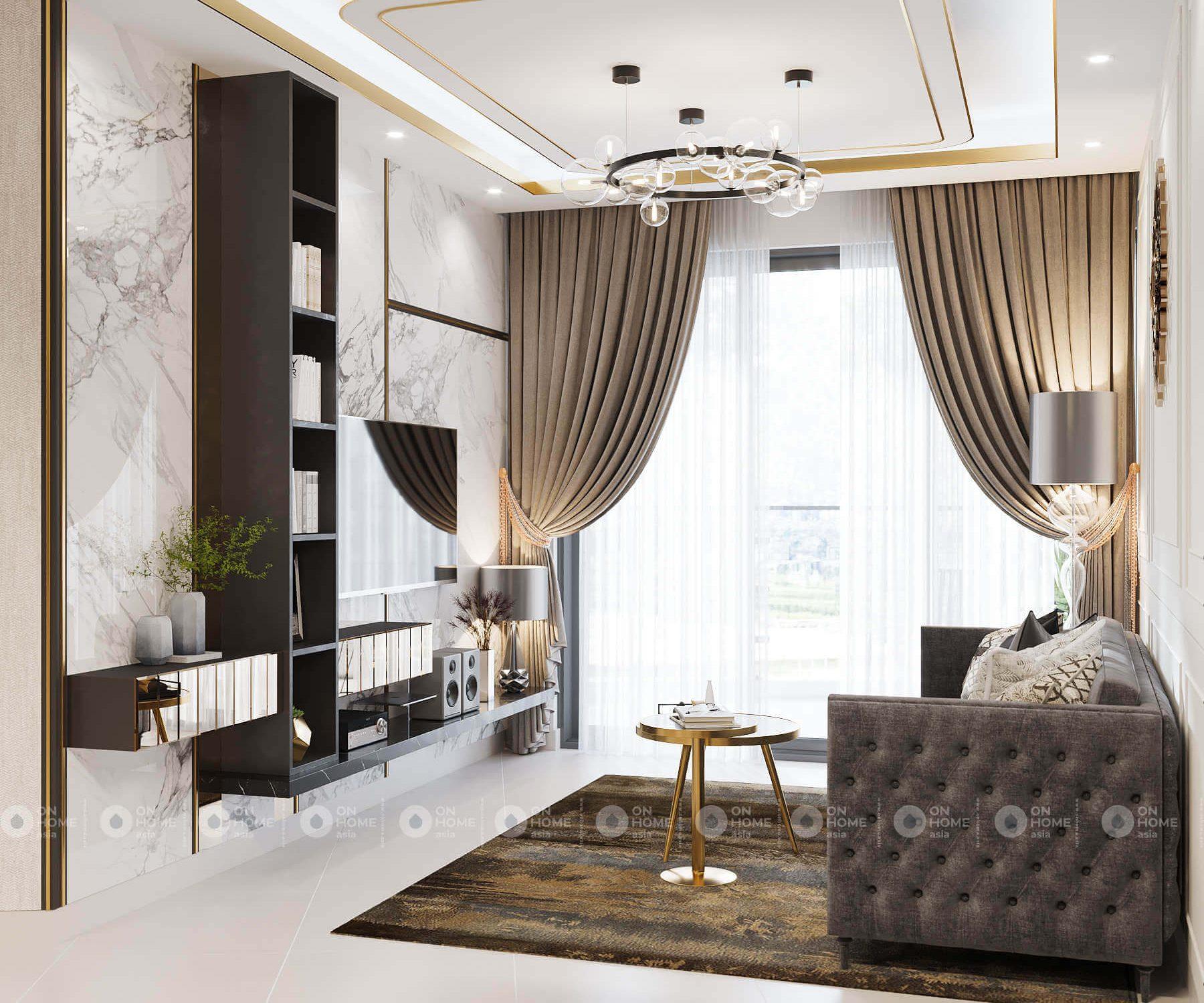 Thiết kế nội thất căn hộ 2 phòng ngủ Compass One