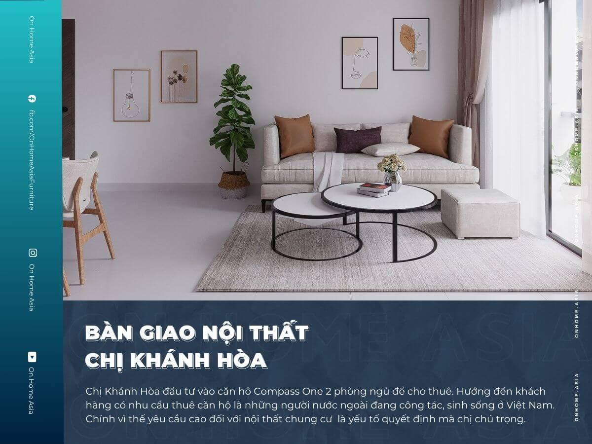 thumbnail thiết kế nội thất chung cư 2 phòng ngủ chị Hòa