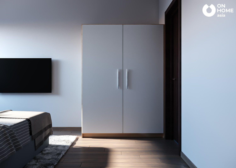 thiết kế nội thất phòng ngủ master căn hộ the habitat 3pn