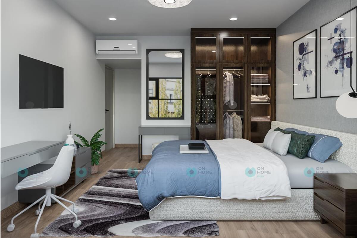 thiết kế nội thất phòng ngủ lớn compass one 2brc