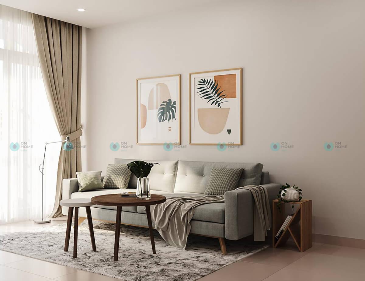 nội thất sofa phòng khách căn hộ compass-one mẫu 2bra