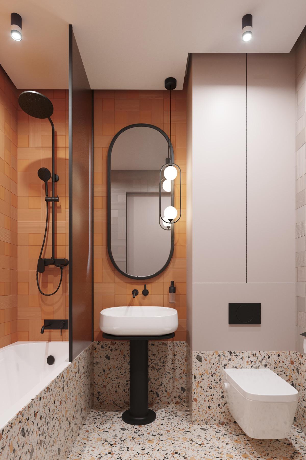 phòng tắm căn hộ 1 phòng ngủ
