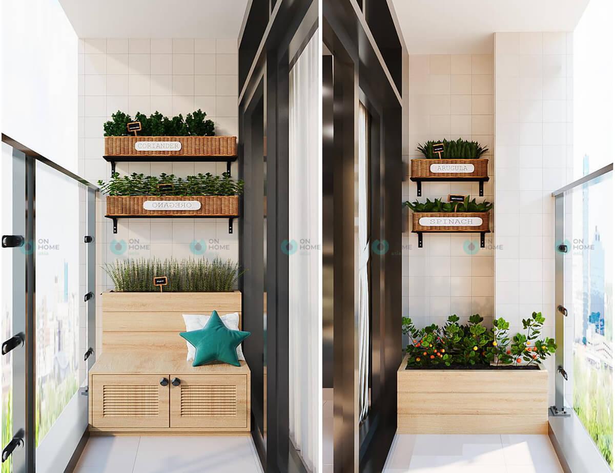 thiết kế ban công căn hộ cpo 2bra