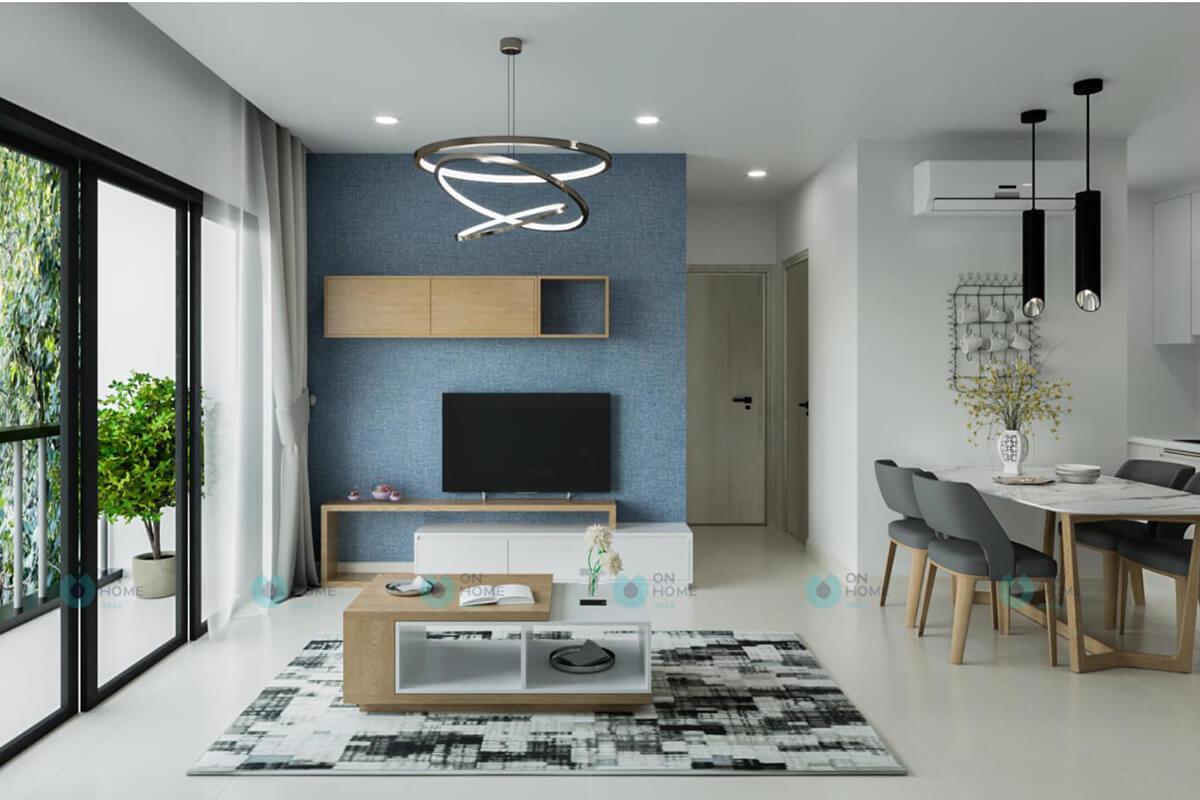 thiết kế nội thất phòng khách căn hộ cpo bình dương 2brc
