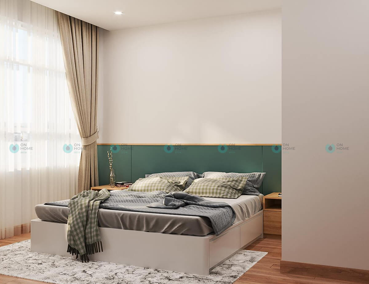 thiết kế phòng ngủ lớn căn hộ compass one 2bra