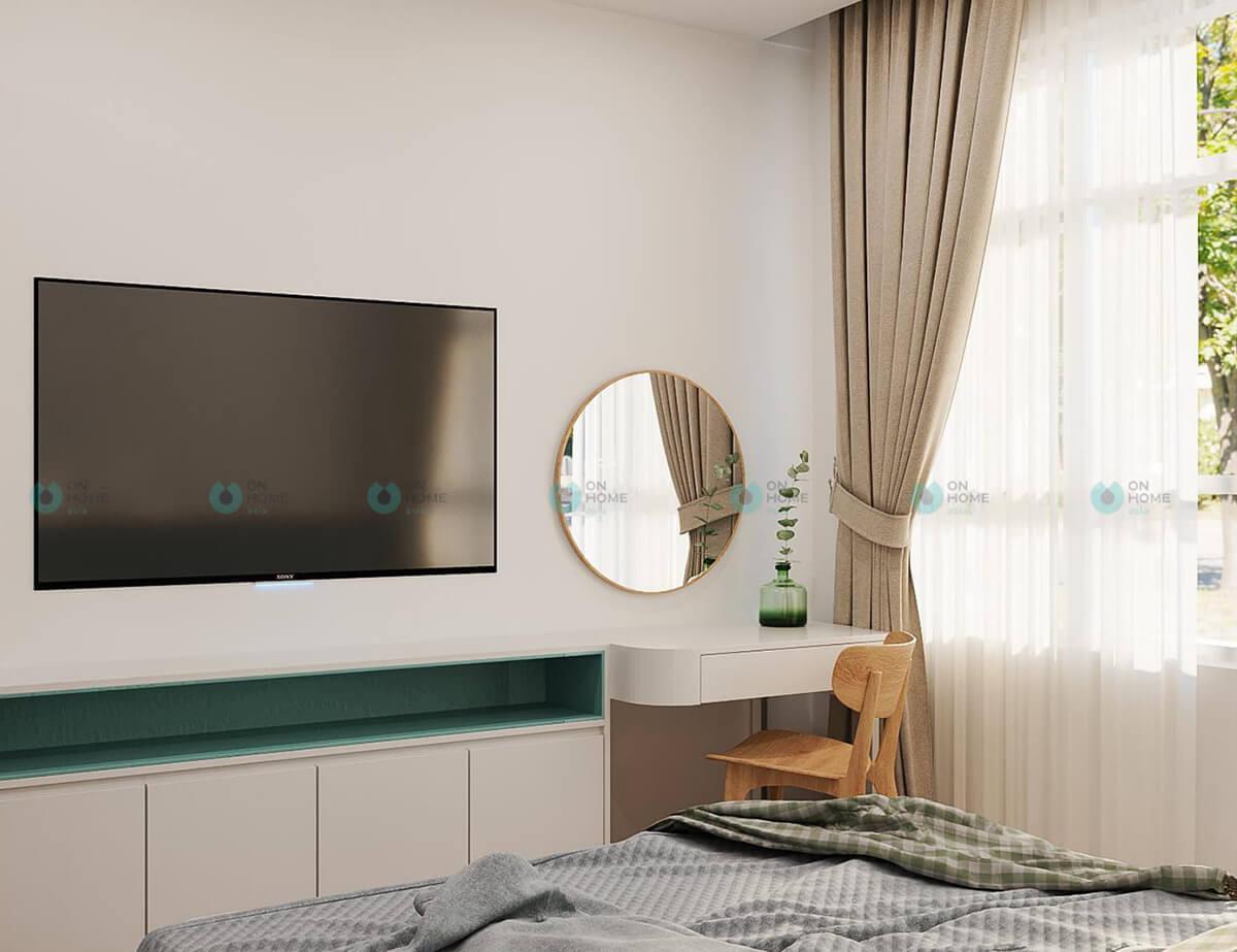 thiết kế nội thất phòng ngủ lớn compass one bình dương 2bra