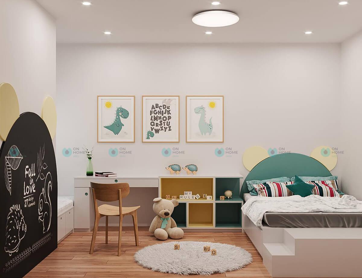 thiết kế nội thất phòng ngủ nhỏ compass one 2bra