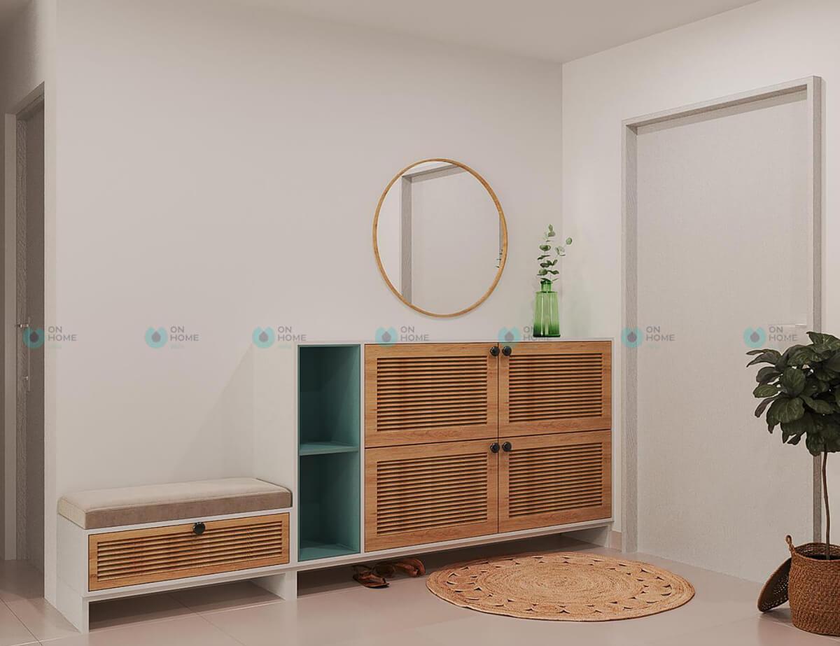 thiết kế nội thất tủ giầy căn hộ compass one 2bra