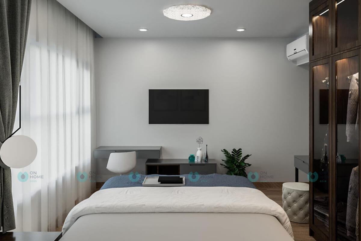 thiết kế phòng ngủ master căn hộ cpo 2brc