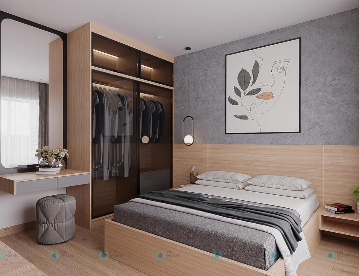 nội thất phòng ngủ master compass one 2brc cho thuê