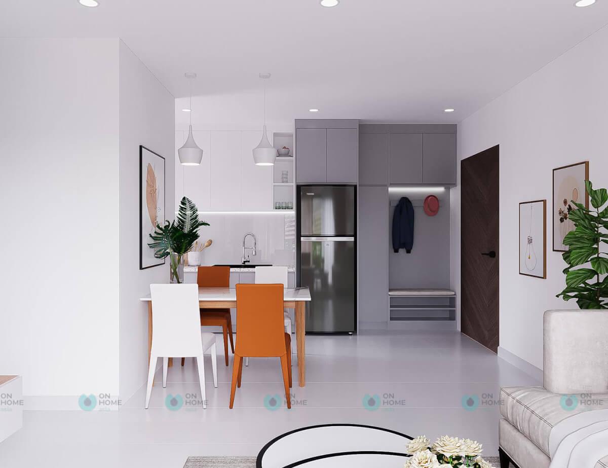 thiết kế nội thất bếp căn hộ compass one mẫu 2brc