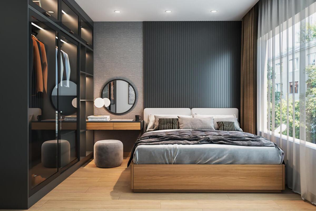 thiết kế nội thất căn hộ compass one căn 2brc