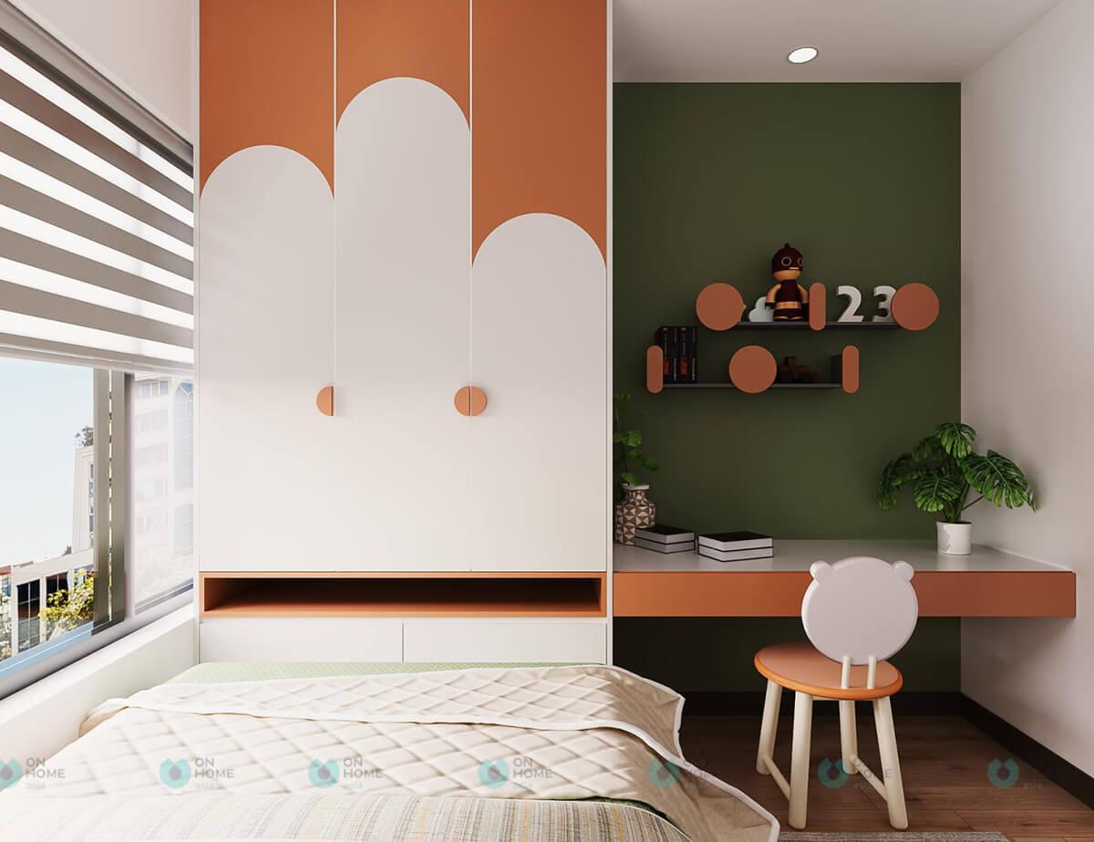 thiết kế nội thất phòng ngủ cho trẻ compass one 2brc cho thuê