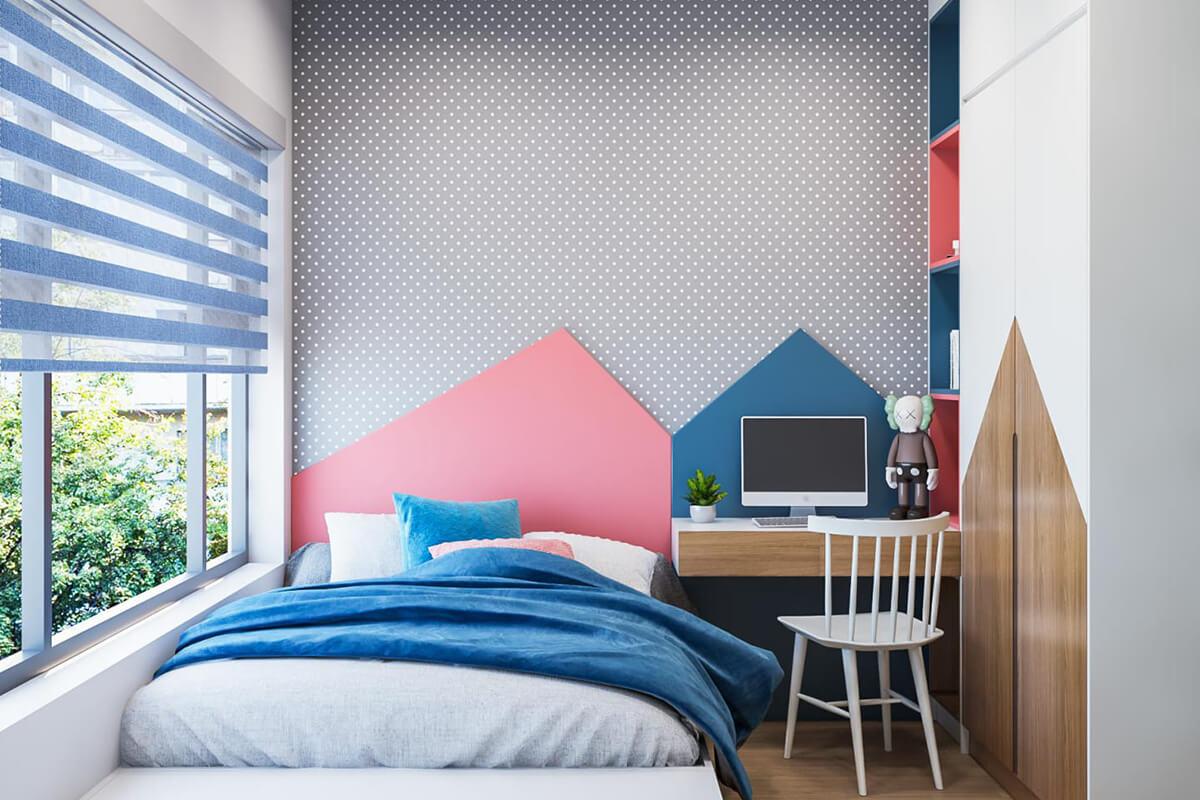 thiết kế nội thất phòng ngủ cho trẻ compass one căn 2brc