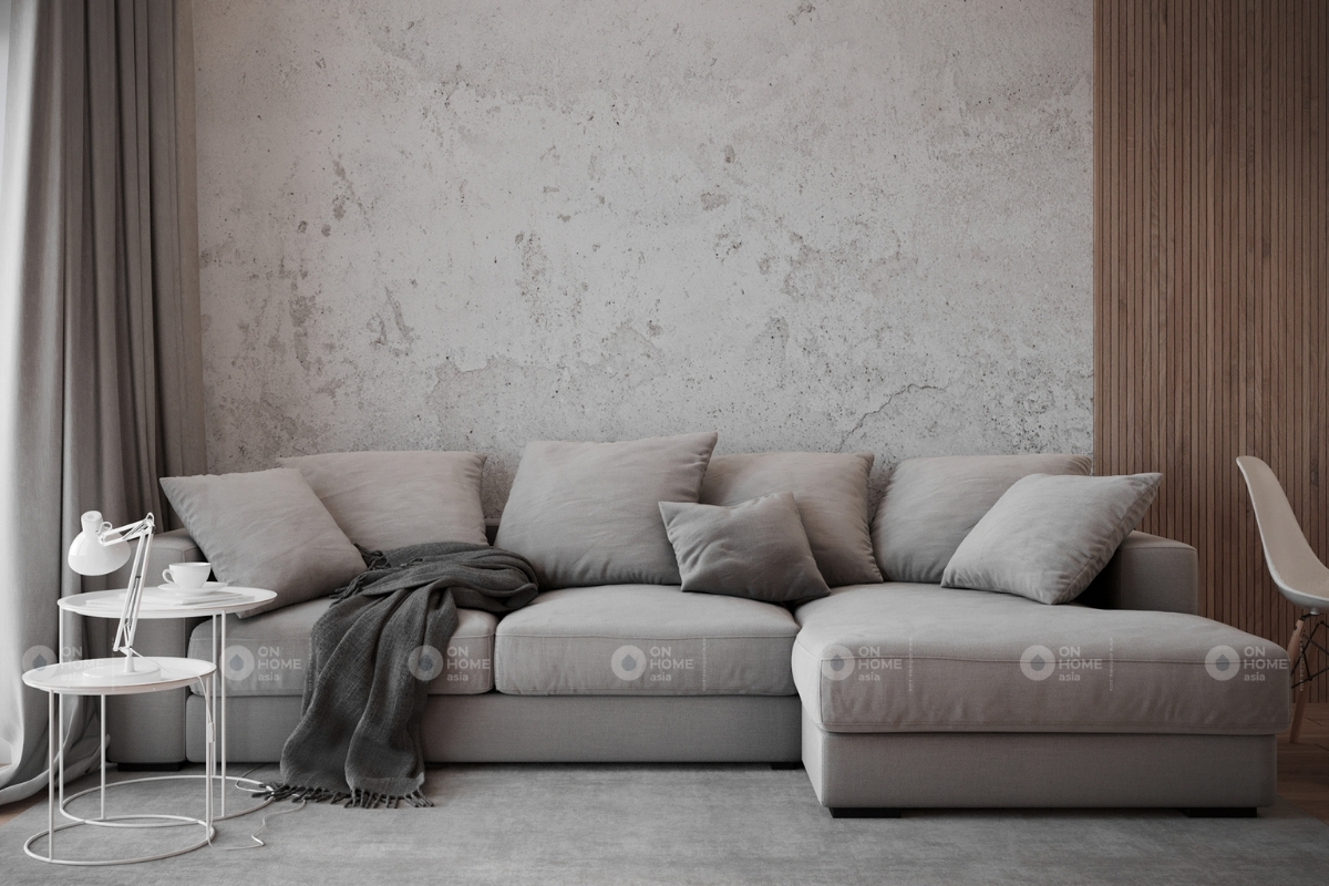 Phòng khách rộng rãi trong thiết kế nội thất chung cư 100m2