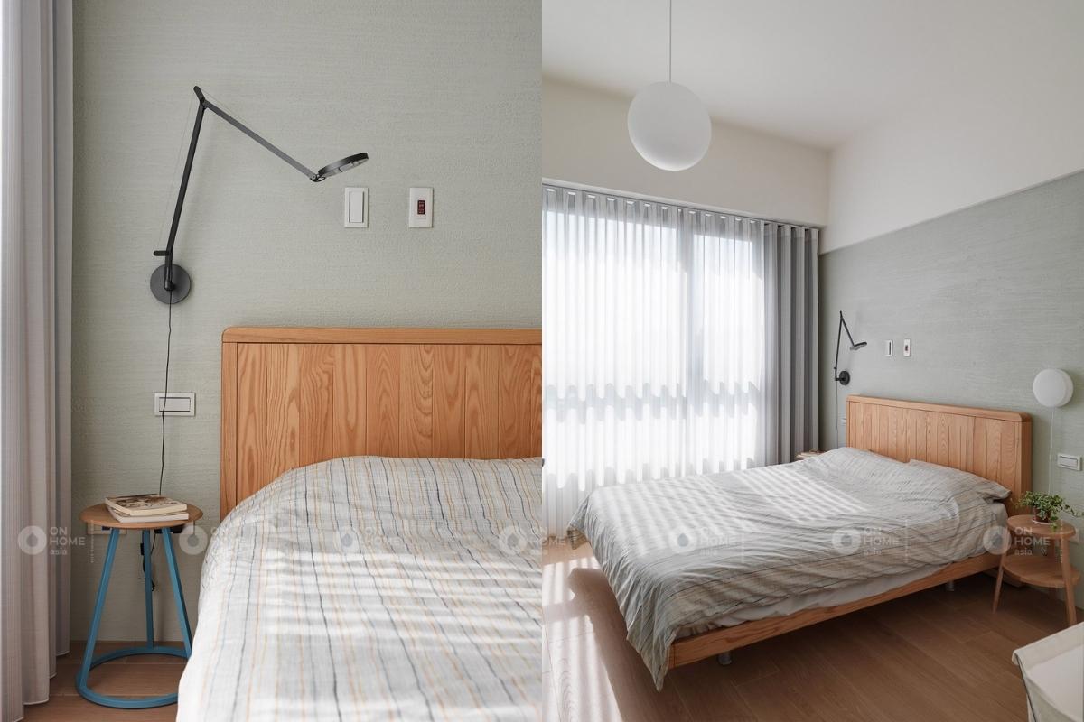 Cửa sổ lớn đón ánh sáng tự nhiên cho căn phòng