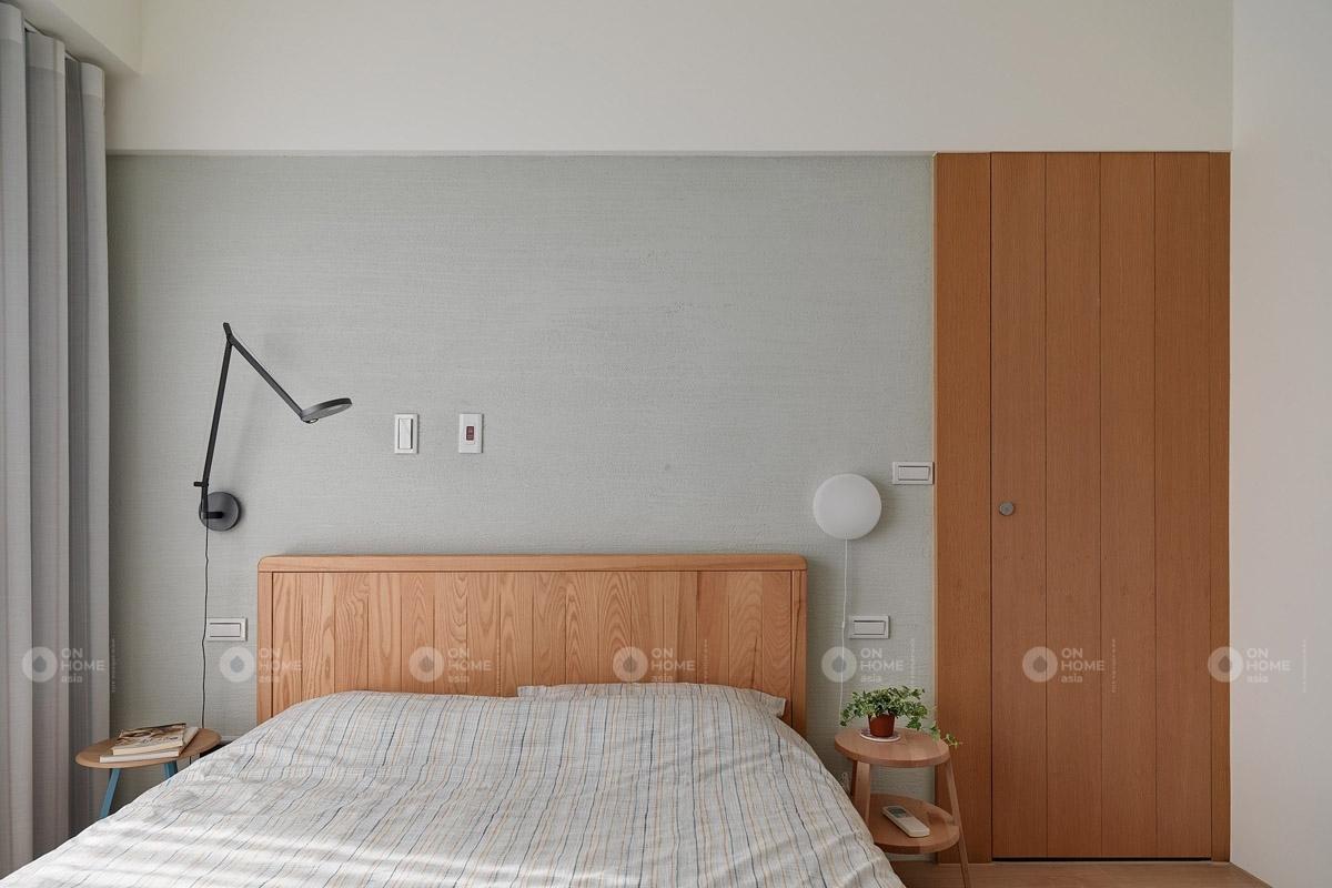 Nội thất phòng ngủ bố trí đơn giản nhưng thiết kế hiện đại và tiện dụng